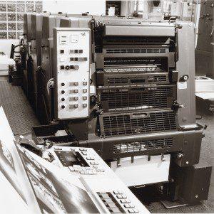 Historie - FREY PRINT + MEDIA - Heidelberger 4-Farbendruckmaschinen GTO