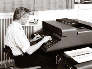 Historie - FREY PRINT + MEDIA - Karl Mues an der Copytronic (1977)