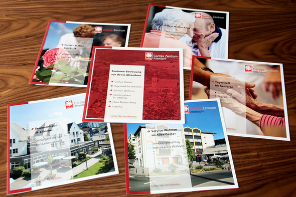 Konzept für eine Serie von Broschüren für das Caritas Zentrum Attendorn von FREY PRINT + MEDIA