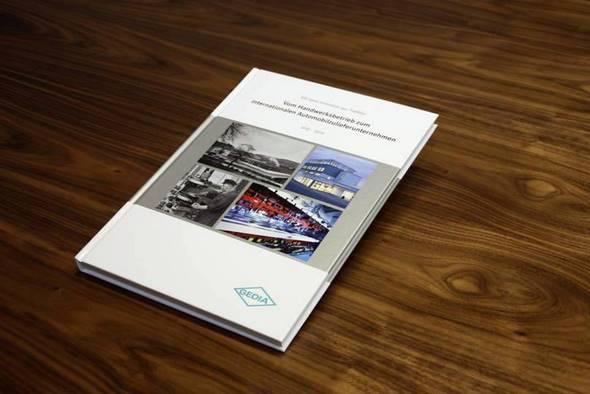 Firmenchronik als Festeinband - 100 Jahre GEDIA Automotive Gruppe - produziert von FREY PRINT + MEDIA