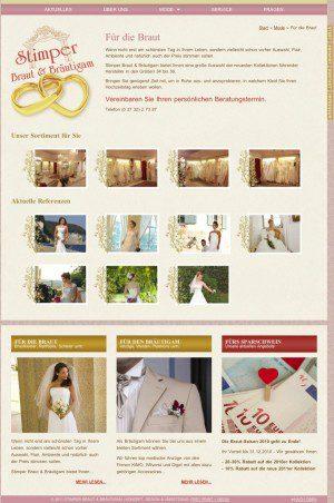 Neue Homepage für Brautmoden - Stimper Braut & Bräutigam von FREY PRINT + MEDIA
