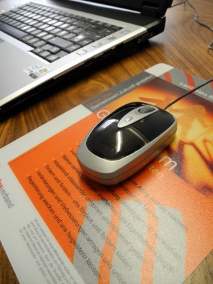 hochwertige Mousepads drucken Promo-Pad-Mousepad - FREY PRINT + MEDIA