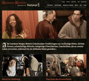 Neue Internetseite mit Buchungssystem für Kriminal-Bankett präsentiert von Kurtzweyl - erstellt von FREY PRINT + MEDIA