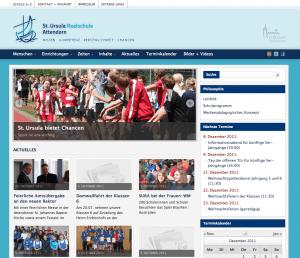 Neukonzeption Internetseite Realschule für die St.-Ursula Realschule Attendorn von FREY PRINT + MEDIA