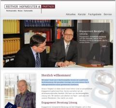 Neue Internetseite für Dienstleistungsunternehmen Reiter Partner von FREY PRINT + MEDIA