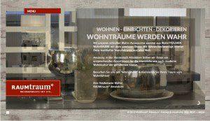 Logoentwicklung, Drucksachen und Internet für RAUMtraum Attendorn von FREY PRINT + MEDIA