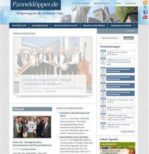 Neukonzeptionierung Internetauftritt Stadtmagazin für das Bürgermagazin der Kreisstadt Olpe von FREY PRINT + MEDIA