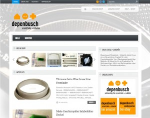 Neue Internetseite für Ersatzteile und Zubehör Depenbusch-Ersatzteilservice von FREY PRINT + MEDIA