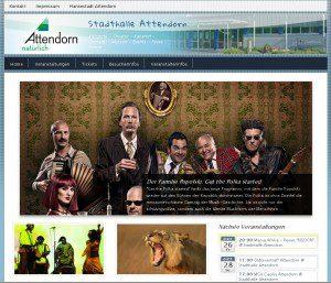 Neue Internetseite für Stadthalle Attendorn von FREY PRINT + MEDIA