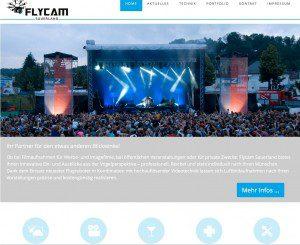 Neue Website zur zur einfachen Pflege der Seiten für Flycam Sauerland von FREY PRINT + MEDIA