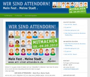 Wir-sind-Attendorn.de im Sommer 2012