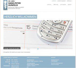 Neue Webseite für Facharztpraxis Dr. med. Hans-Peter Hunfeld von FREY PRINT + MEDIA