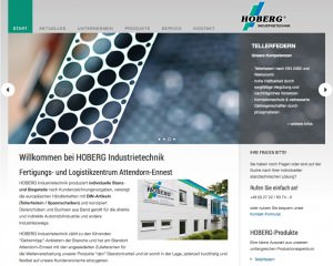 Webseite Stanz- und Biegeteile für die Firma Hoberg Industrietechnik von FREY PRINT + MEDIA
