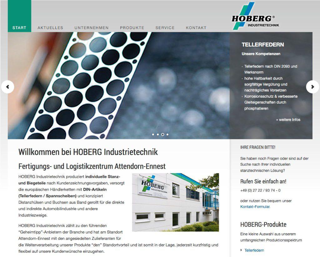 Webseite Hoberg-Industrietechnik