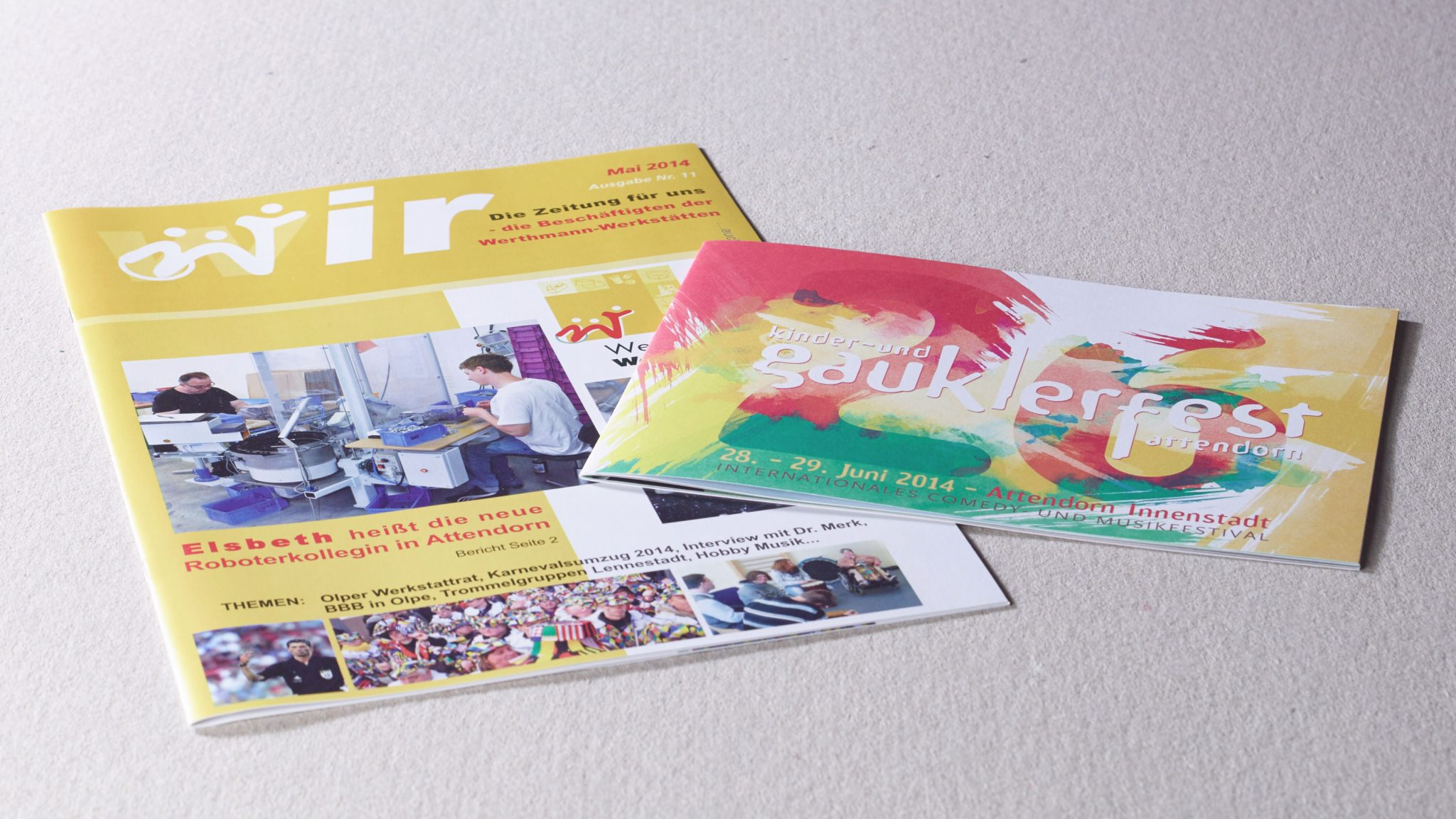 Broschüren auf Recyclingpapier drucken aus der Druckerei von FREY PRINT + MEDIA