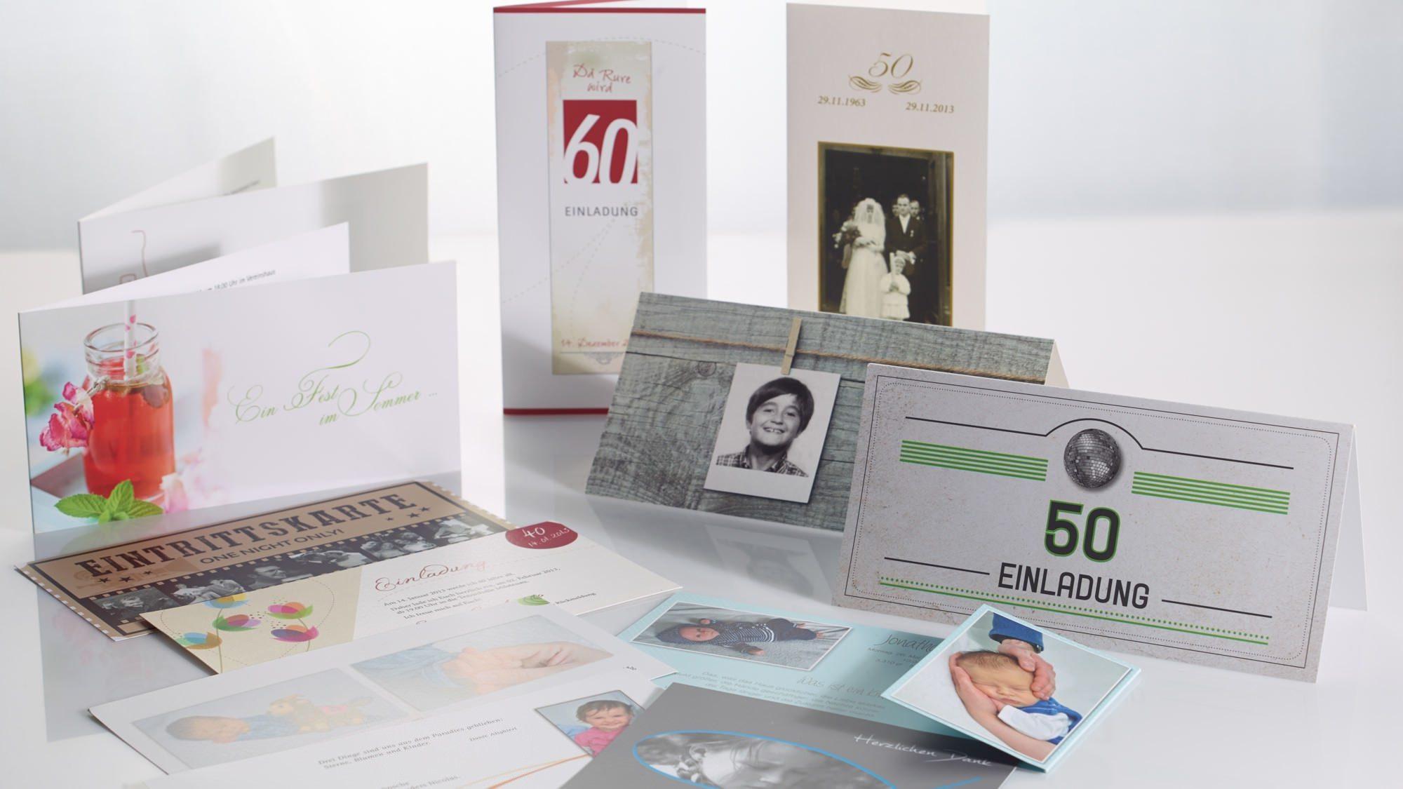 Einladungskarten drucken aus der Druckerei von FREY PRINT + MEDIA