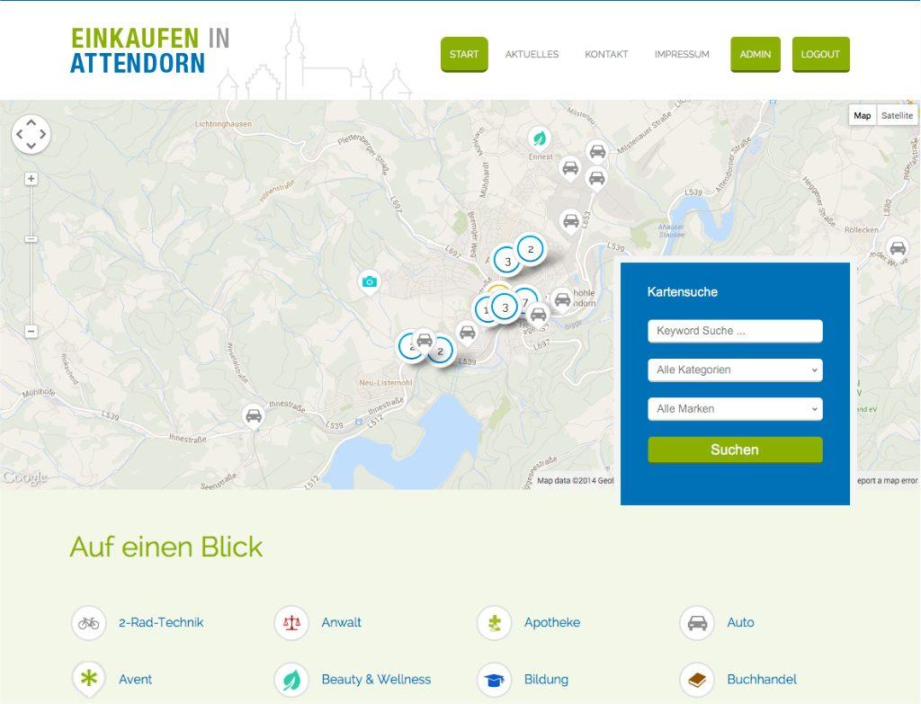 Einkaufen in Attendorn - Sreenshot
