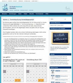 Terminbuchung online: Anmeldegespräche - St. Ursula Realschule