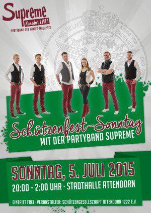 Plakate, Minifolder und Programmheft für das Attendorner Schützenfest von FREY PRINT + MEDIA