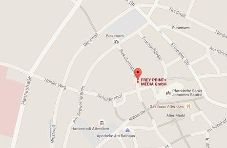 Unser Standort - FREY PRINT + MEDIA - Attendorn