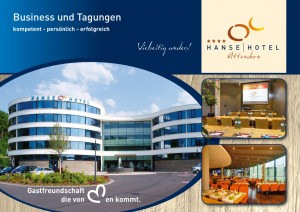 Businessprospekt und Tagungsprospekt für das Hanse-Hotel-Attendorn gedruckt bei FREY PRINT + MEDIA