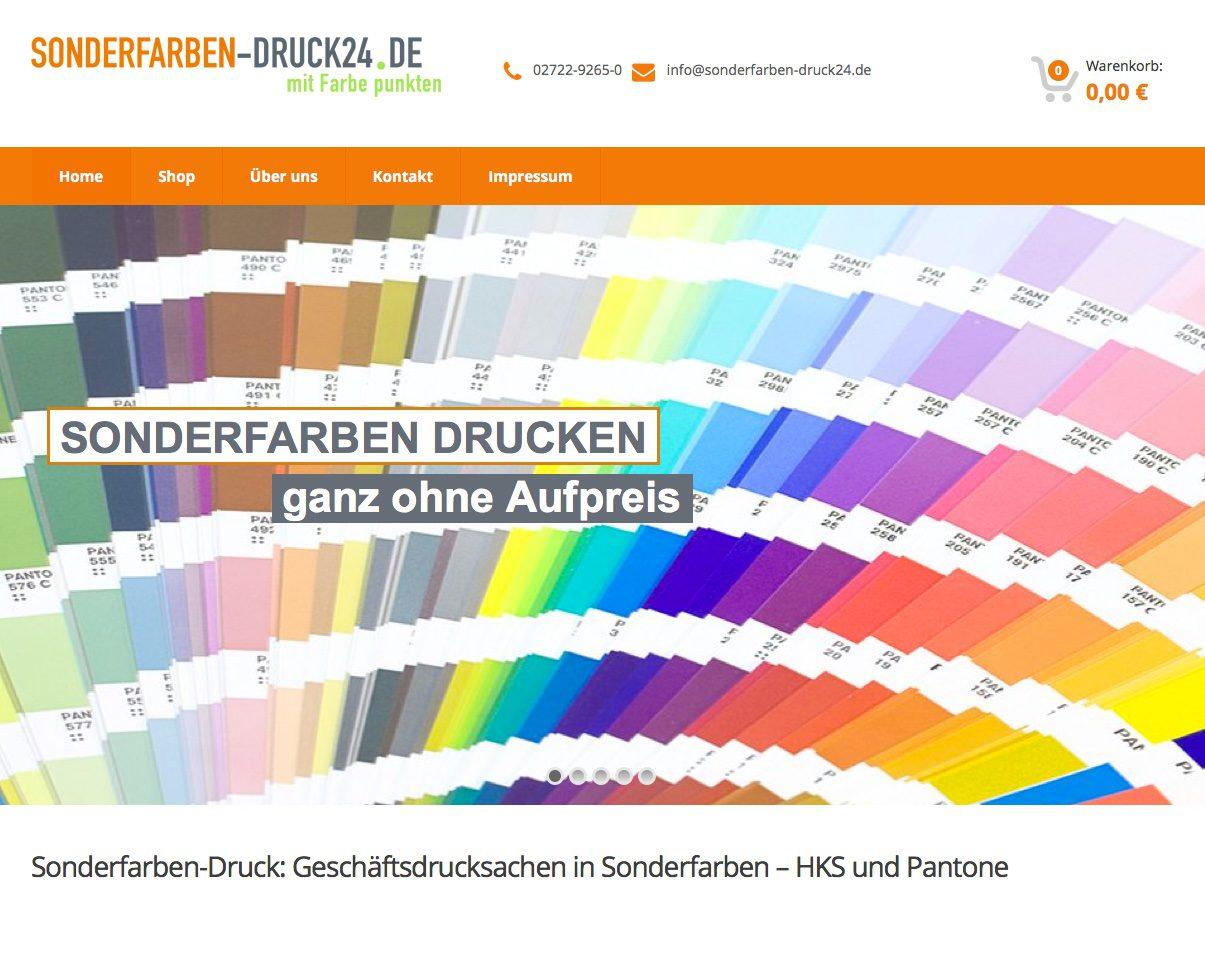 Online Shop Sonderfarben Druck