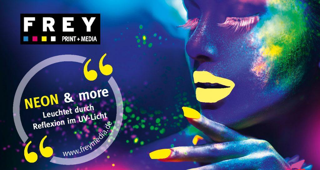 Neongelb im Digitaldruck - Frey Print + Media aus Attendorn